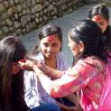 Dashain Festival with our children and family Bhaktapur Self Sustaining Children home in Sipadol village
